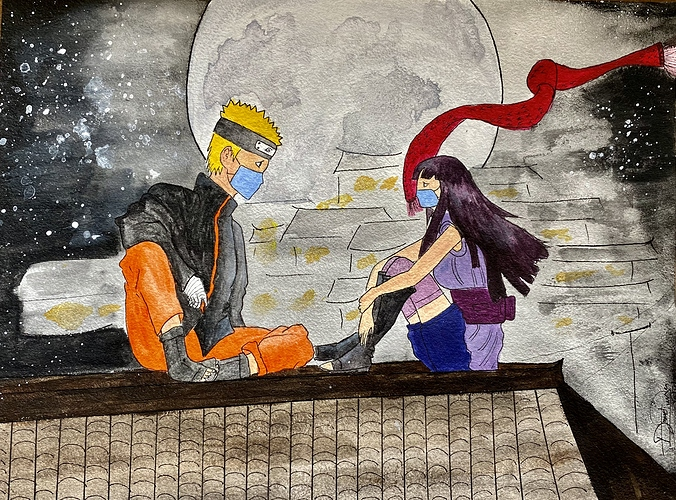 Naruhina (watercolor)
